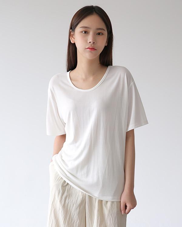 샌드 유넥 반팔 티셔츠 (3color)