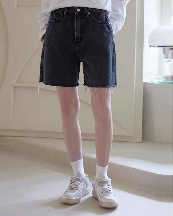로던 컷팅 하프 팬츠 (3color)