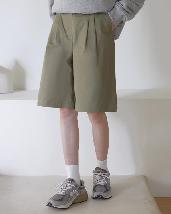 앤트 핀턱 코튼 팬츠 (2color)