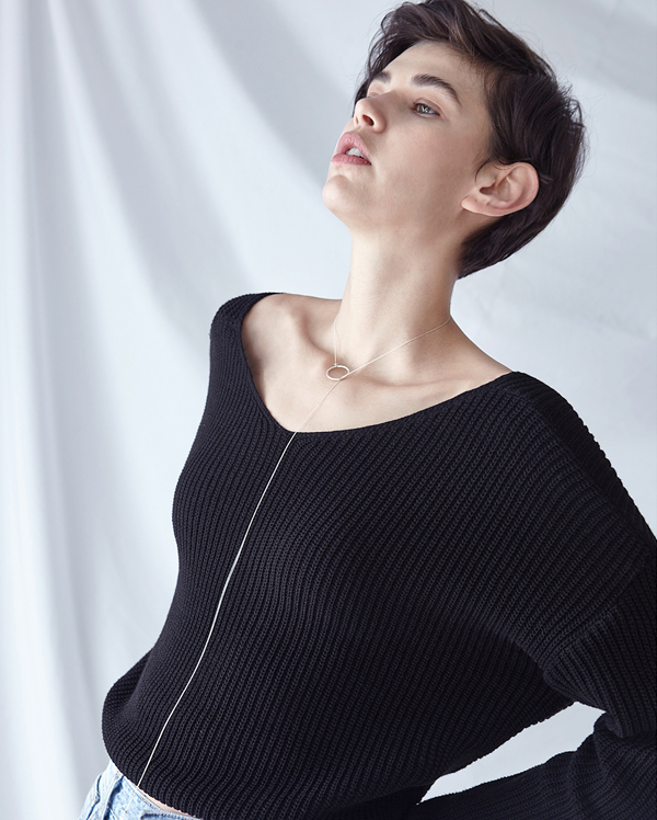 back draping point knit (2 colors)