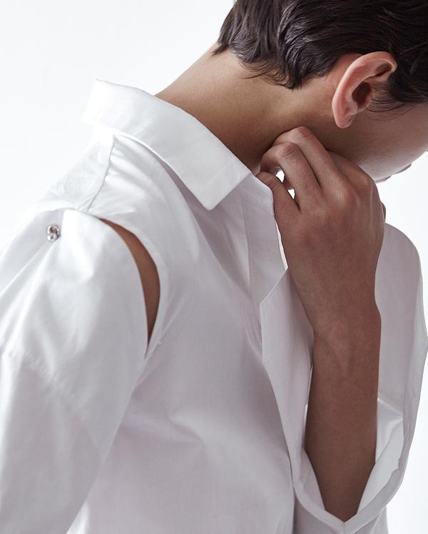 shoulder slit unique shirts (2 colors)