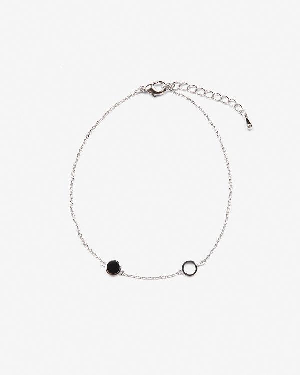 two circle ankle bracelet