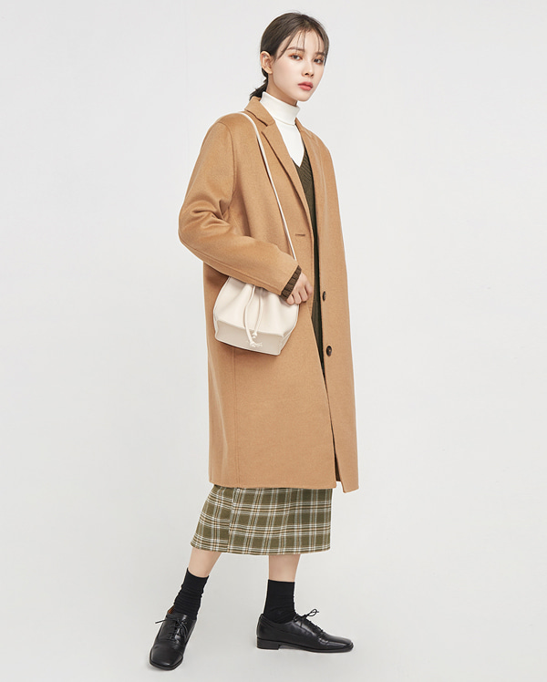 3-button single handmade coat (wool90%)