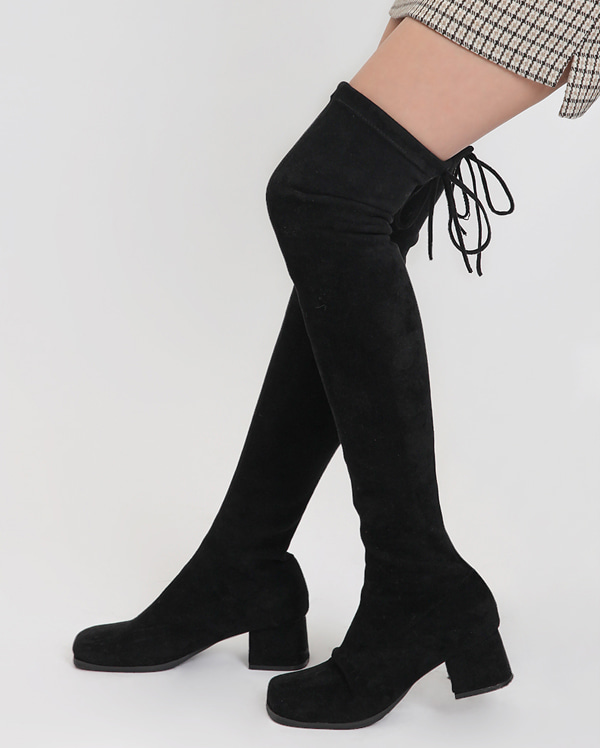 girlish ribbon long boots (225-250)