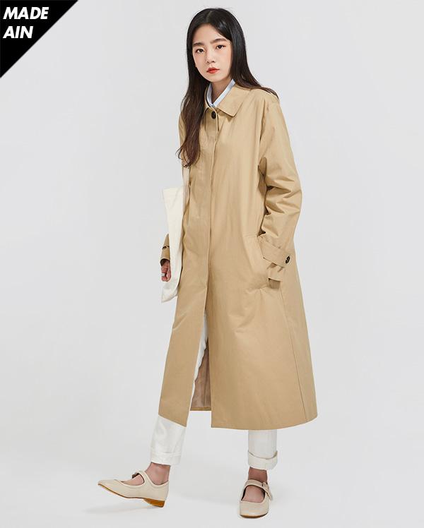 FRESH A modern single trench coat