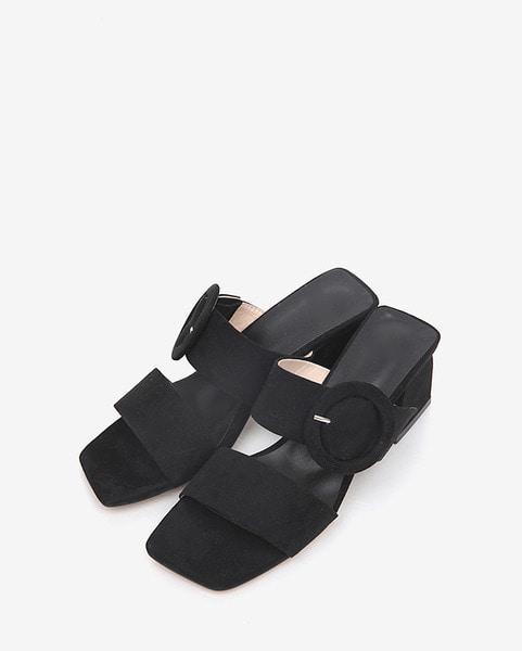 favor buckle suede heel (225-250)