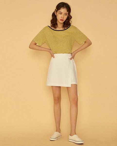 see lovely linen wrap skirt (s, m)