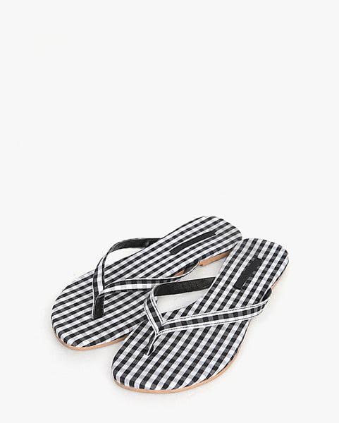 charming check slipper (230-250)