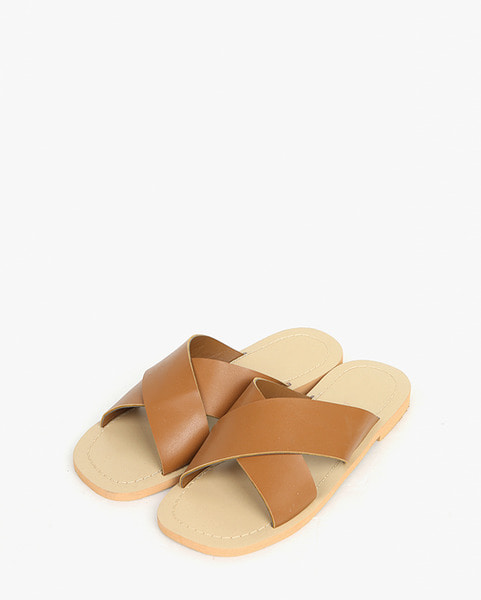 peach simple cross slipper (230-250)