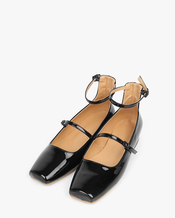 lobe 2-strap flat shoes (230-250)