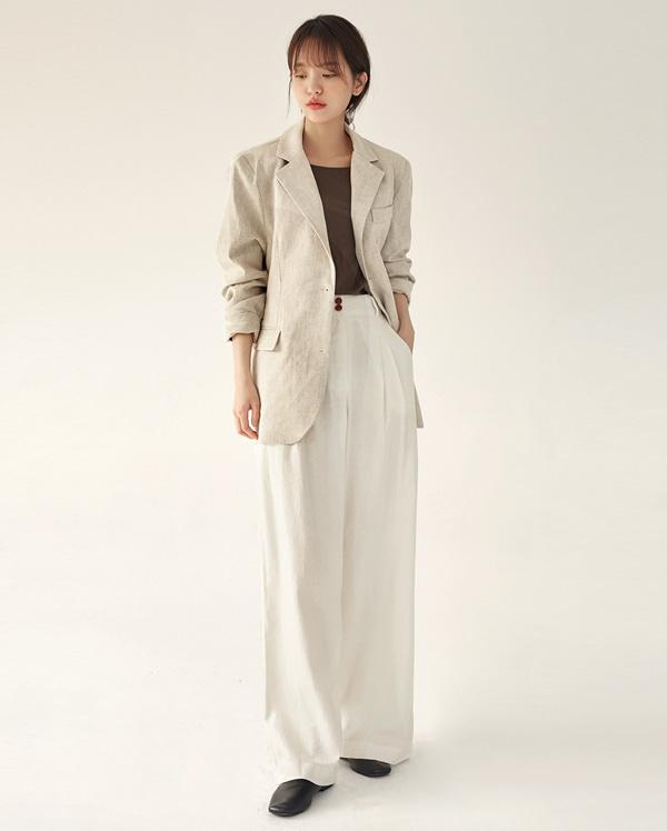 mono linen single jacket