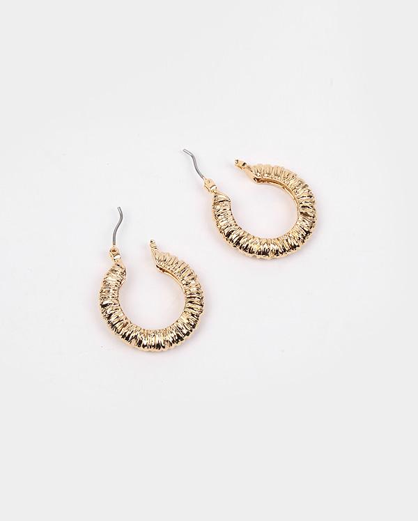 matching gold earring