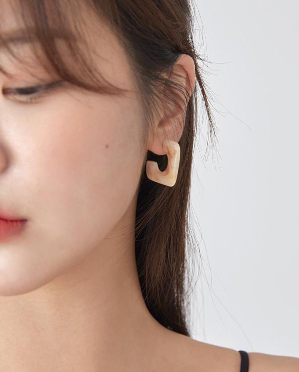 sunset square earring