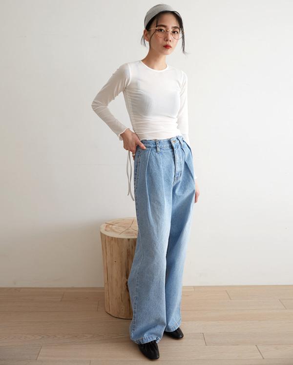 snuper pintuck wide pants (s, m, l)