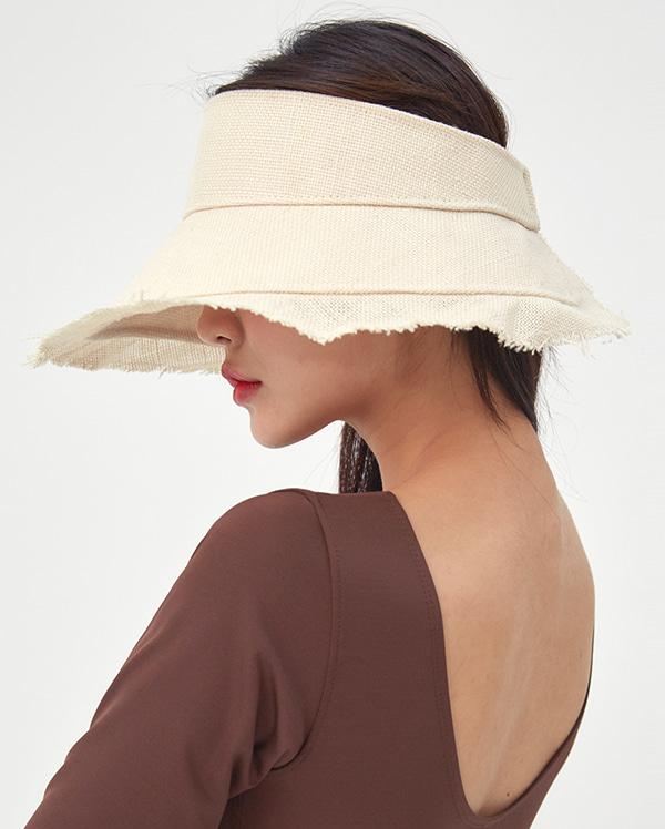 wide straw sun cap