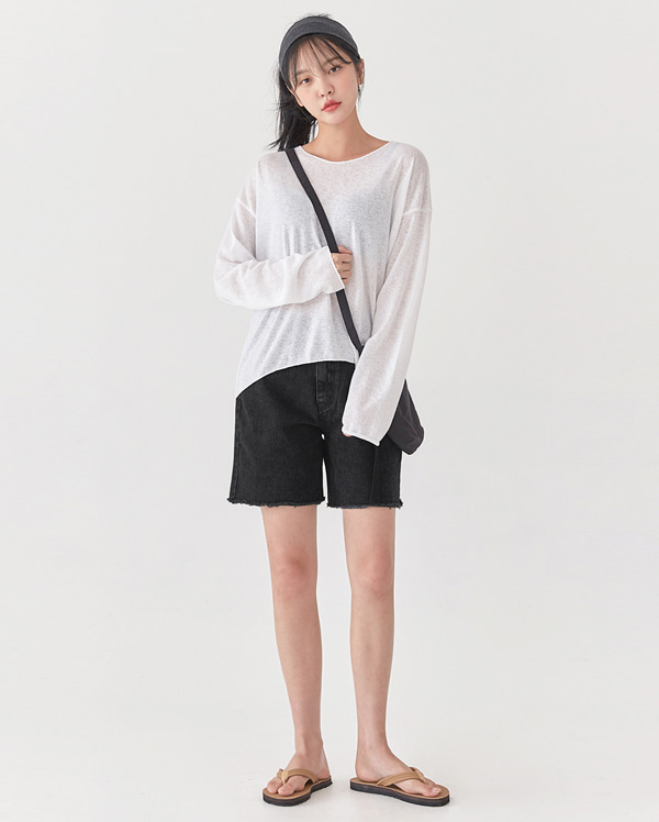 first see through linen knit