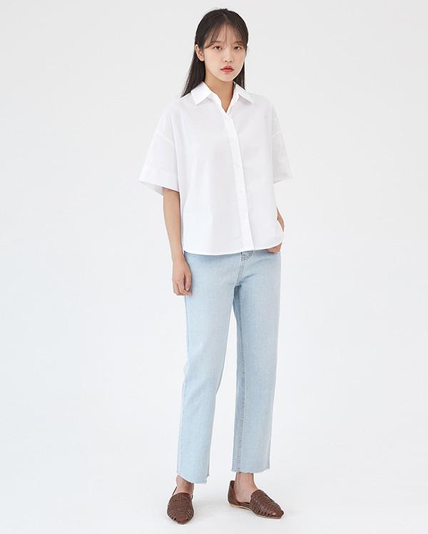 add washing straight pants (s, m, l)