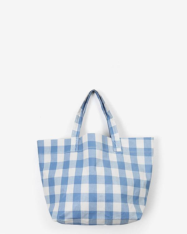 gingham large shoulder bag