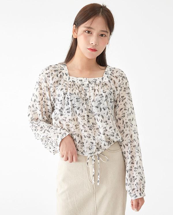 ribbon flower park blouse