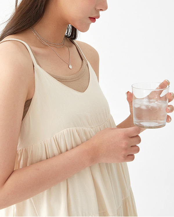 a layered chain necklace