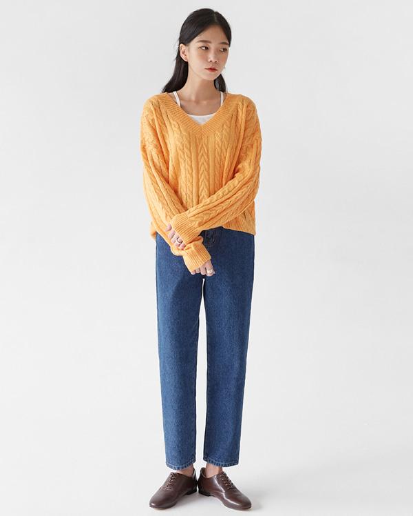fleta v-neck twist knit