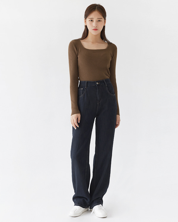 tension square neck knit