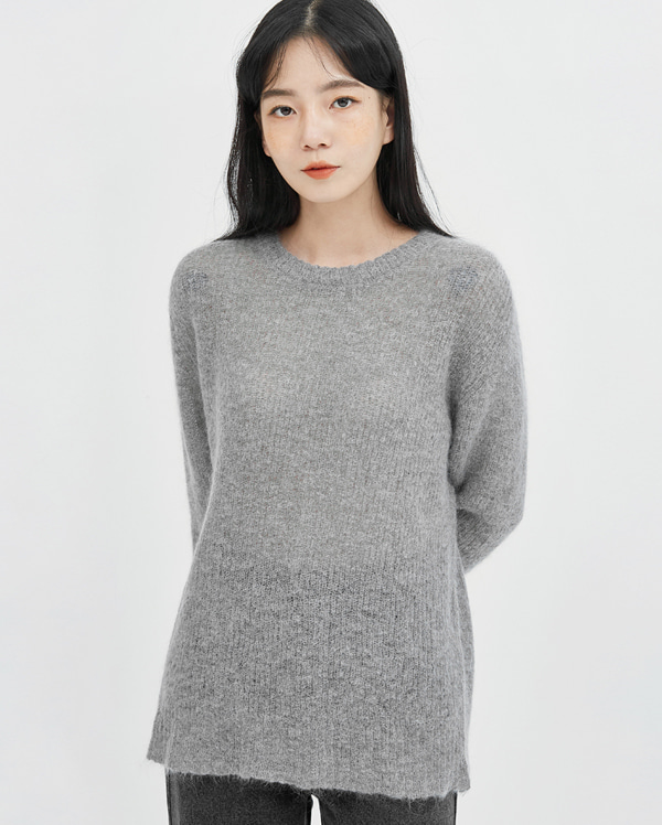 cha loose mohair knit