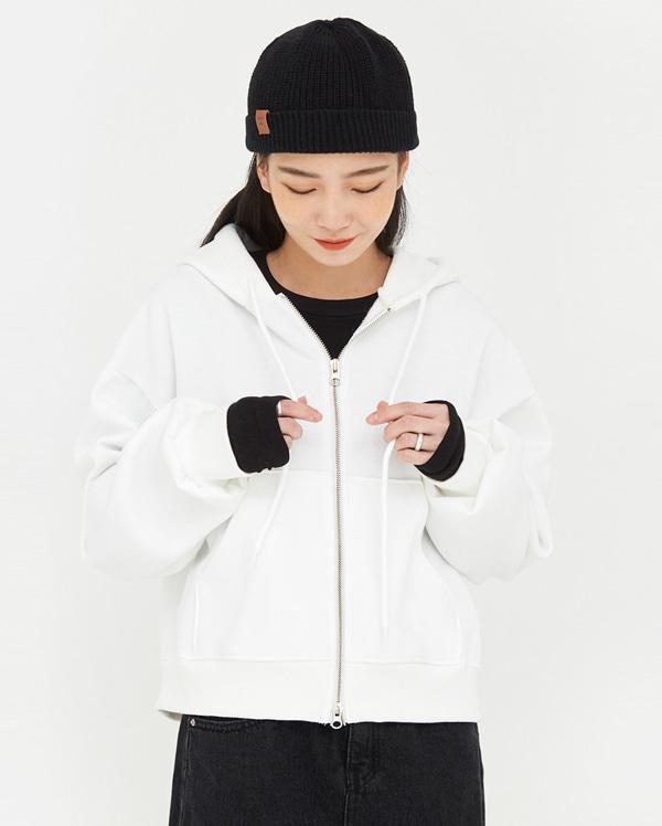 a both zipper hood zip-up