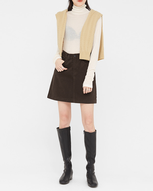 soft comfy mini skirt (s, m, l)