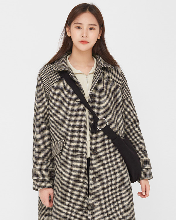 bonita check napping wool coat