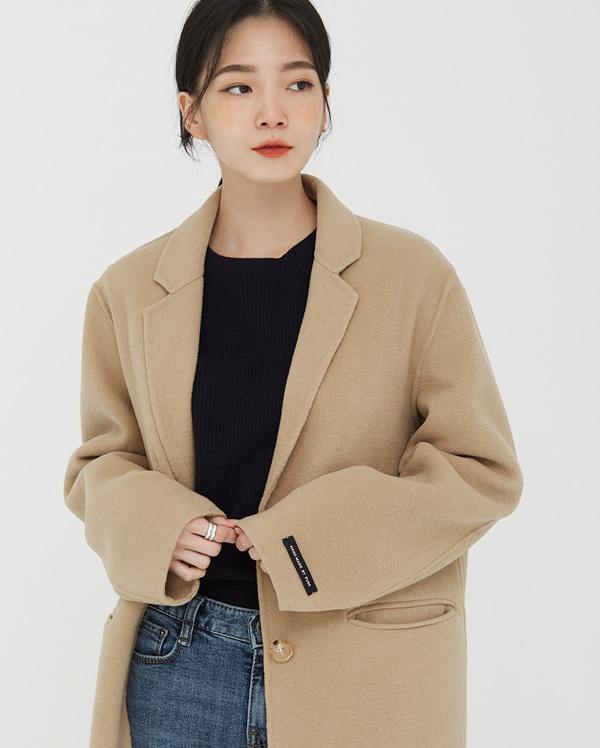 acre belted wool handmade coat