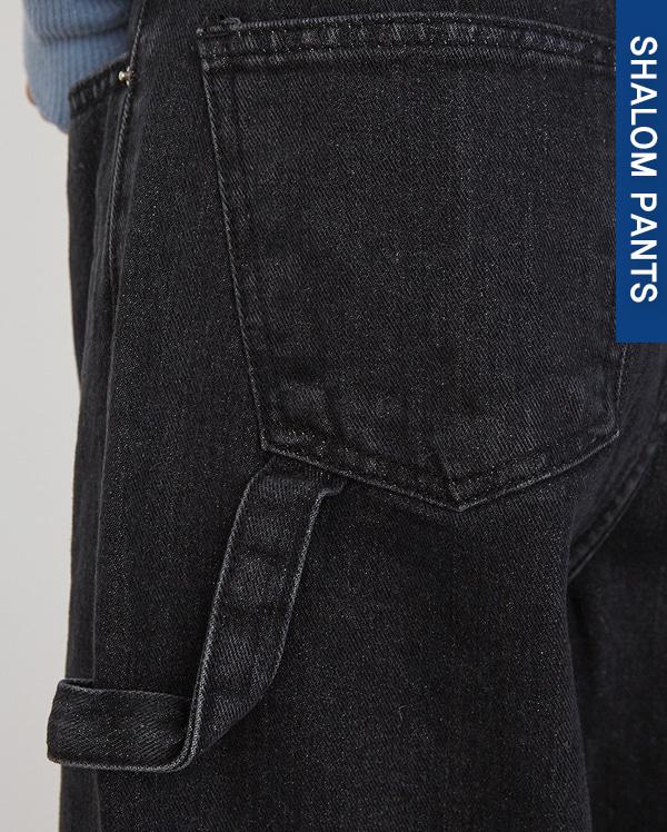 201_strap detail denim pants(s, m, l)
