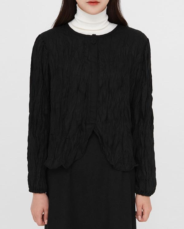 ruffled soft texture blouse