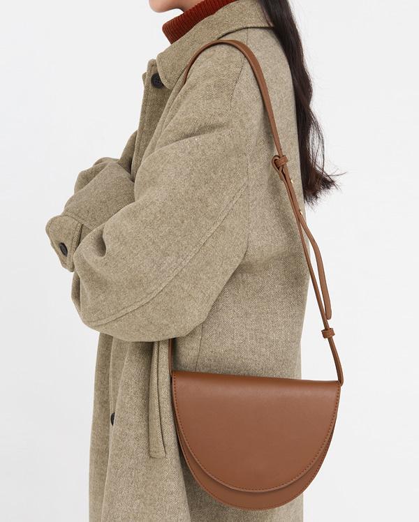 round half moon shoulder bag