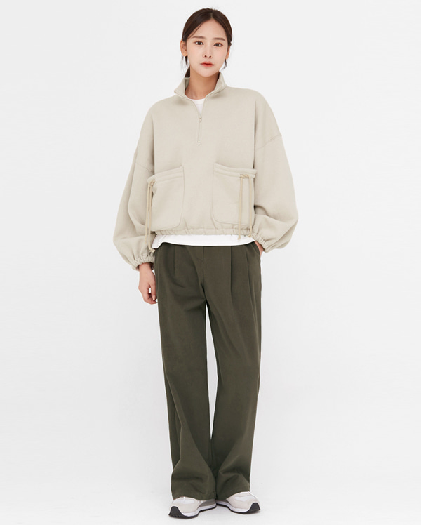 voni pintuck wide cotton pants (s, m)