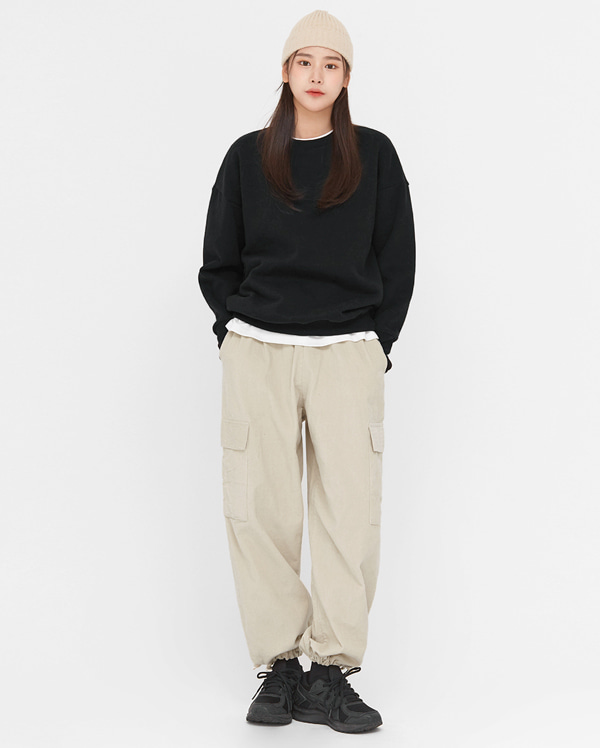 on corduroy jogger pocket pants