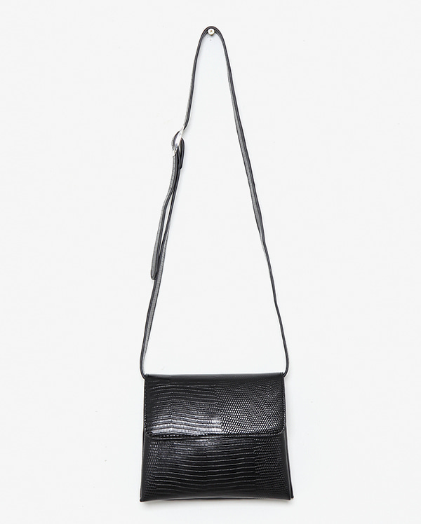 two leather square shoulder bag