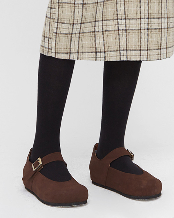 nuts round buckle flat shoes (230-250)