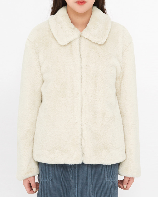 nuts soft fur jacket