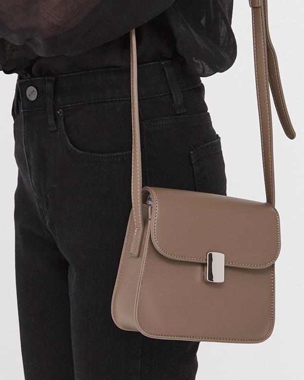 square metal buckle mini bag