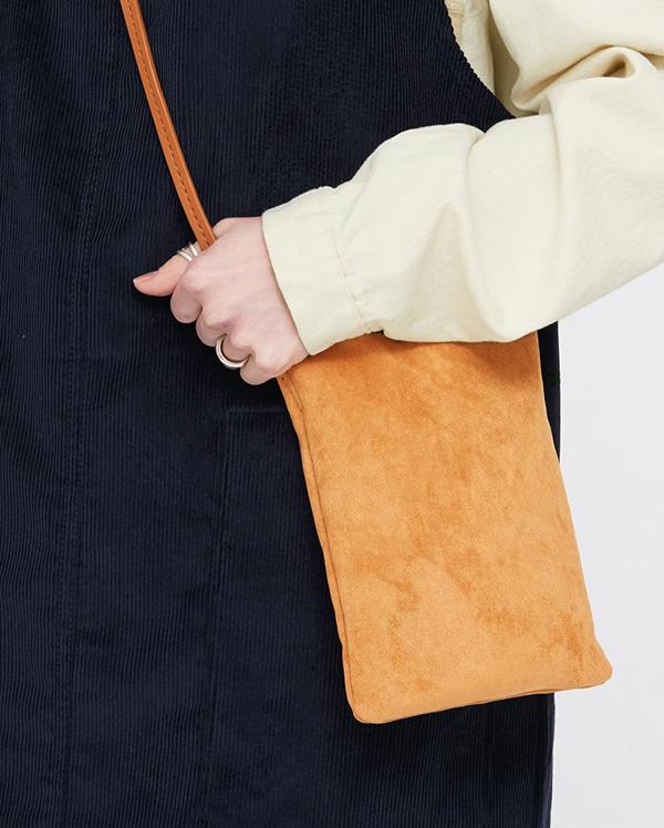 mon suede rectangular mini bag