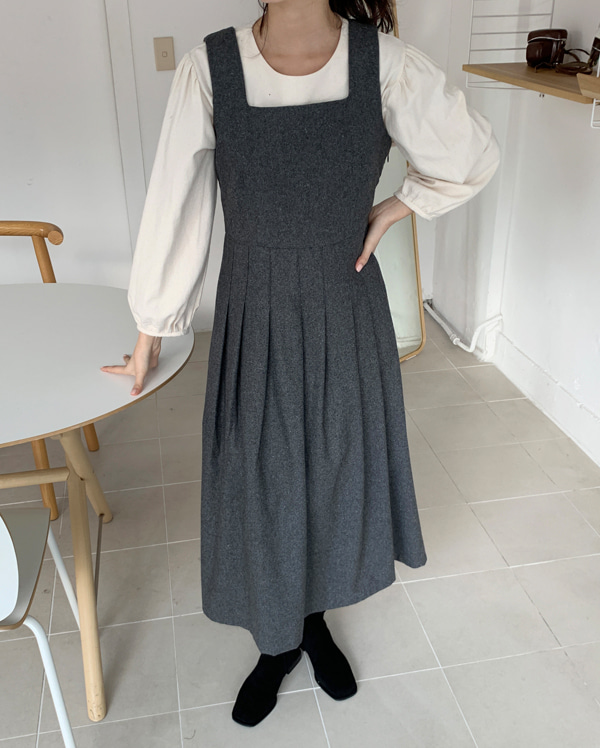 etoile wool sleeveless flare ops
