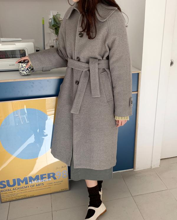 shu napping wool long coat