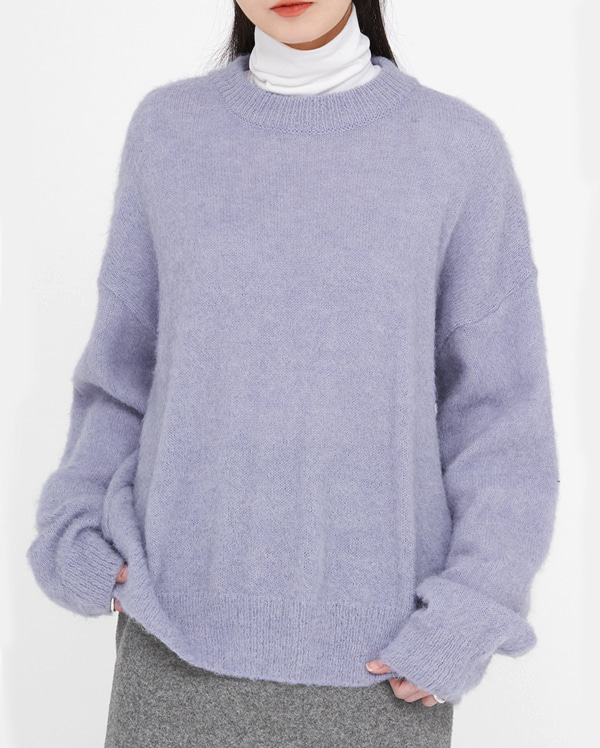 in soft alpaca wool knit