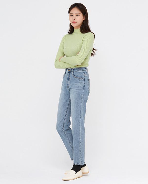 allow silm line denim pants (s, m)