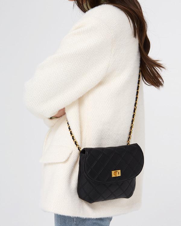 lovely quilting chain shoulder bag