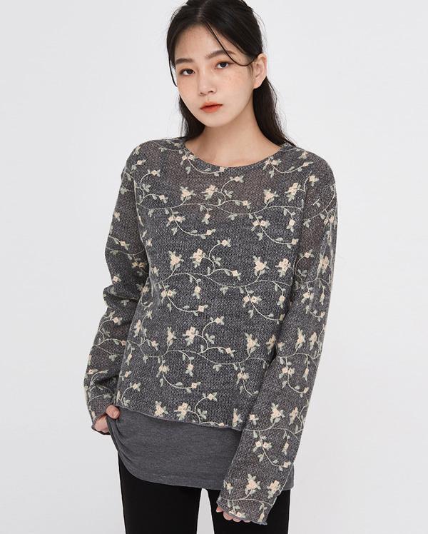vin aloe flower blouse