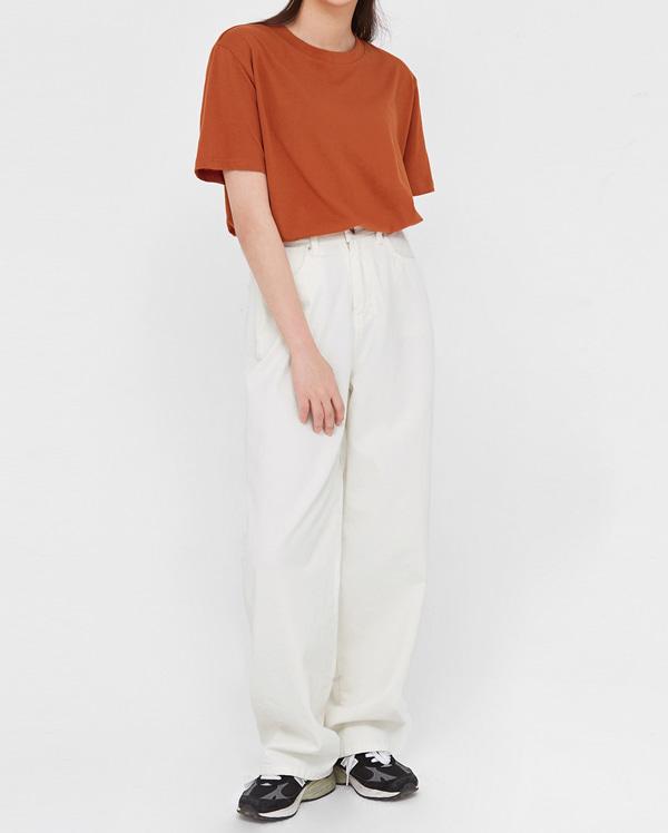 mont wide cotton pants (s, m)