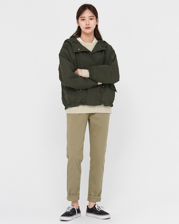 lay casual short hood jumper