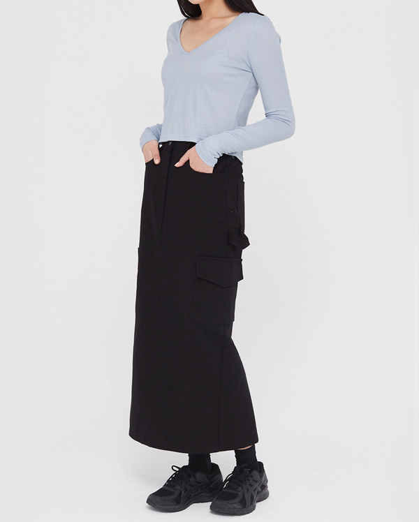 asome slim fit long skirts